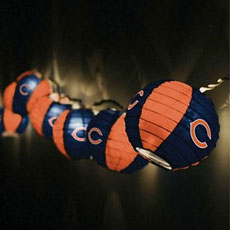 NFL Logo Paper Lantern String Lights