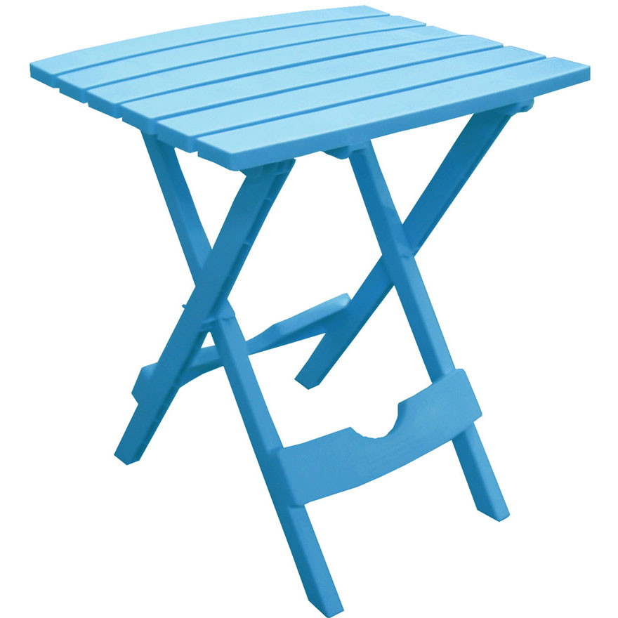 Quik-Fold Blue Patio Side Table