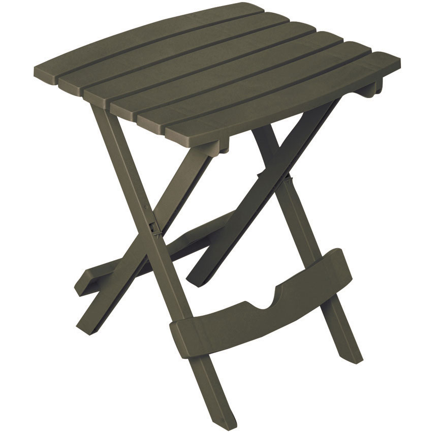 Quik-Fold Earth Brown Patio End Table