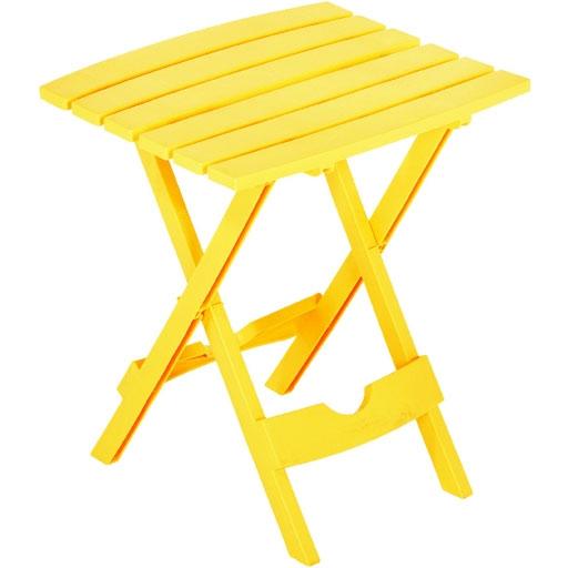 Quik Fold Folding Patio Table Yellow