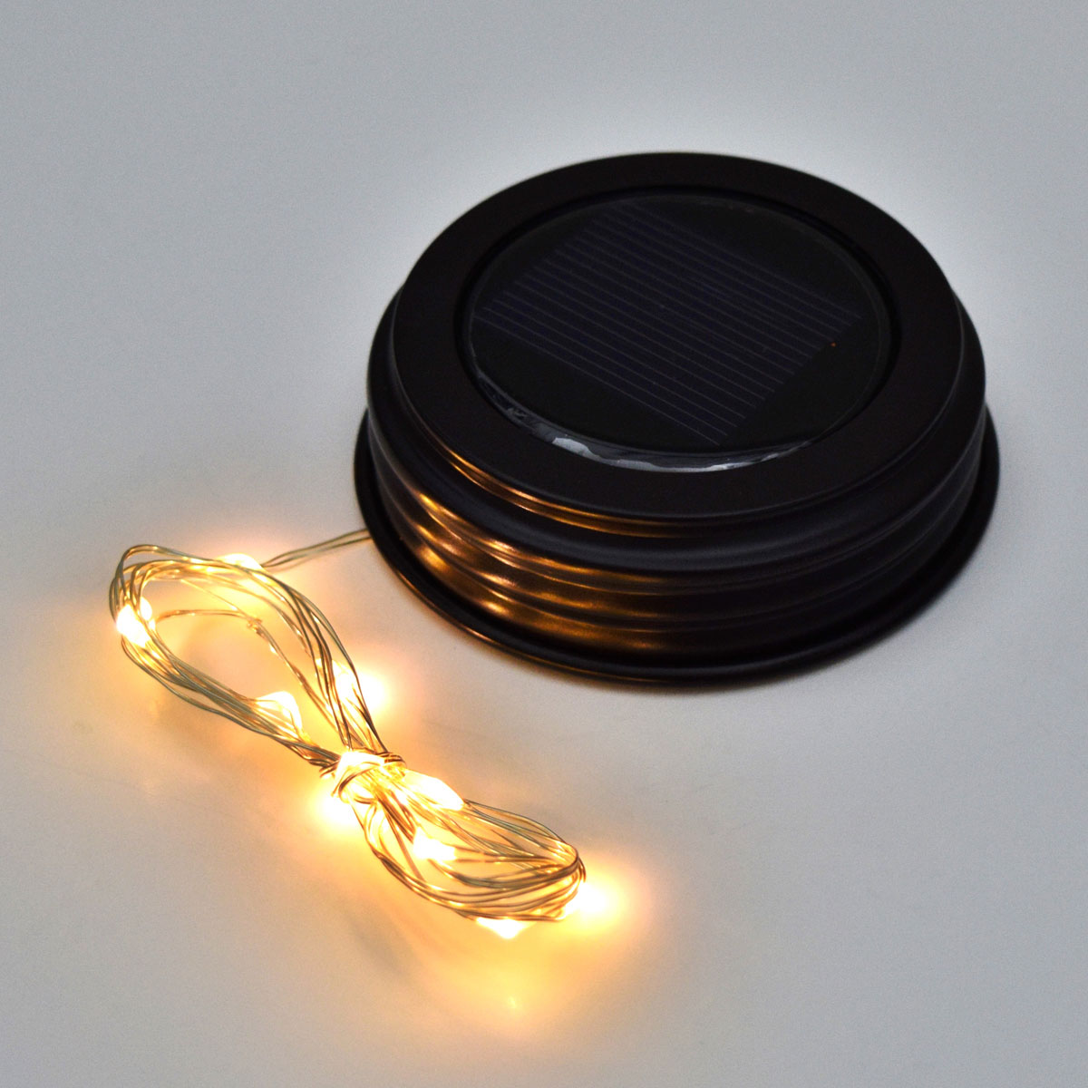 Fairy Light Mason Jar Lid - Solar Powered - LED