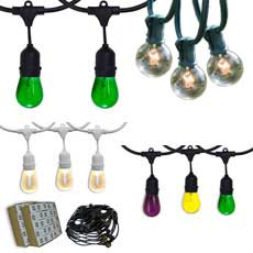 String Light Kits - Indoor / Outdoor - Light Bulbs Included