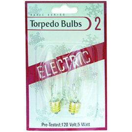 Clear Torpedo Bulbs - 2 Pack 905408