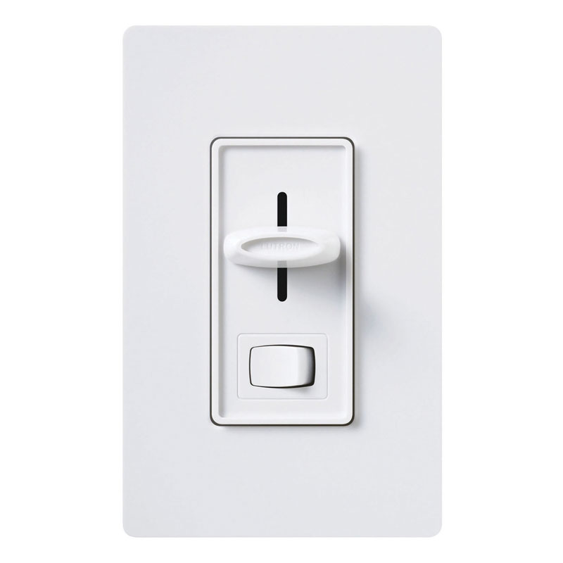 Lutron Skylark LED/CFL Slide Dimmer Switch - White