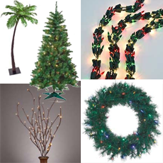 Lighted Trees, Wreaths, Branches & Garlands