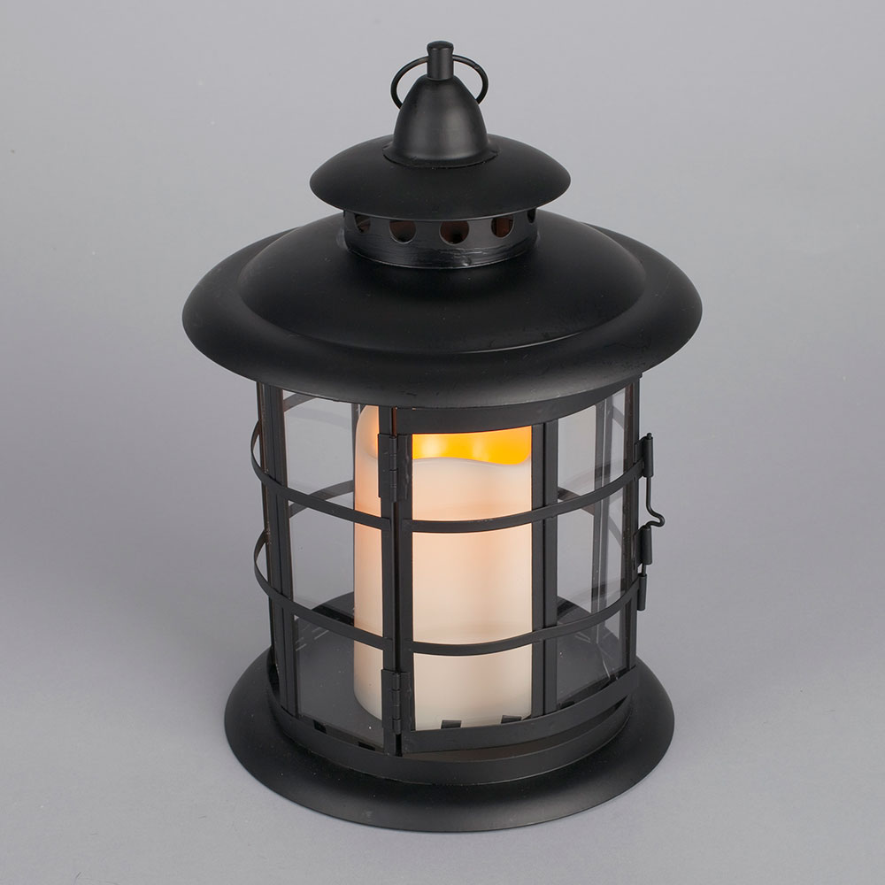 Led Metal Amp Resin Battery Operated Flameless Candle Lantern