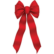 "7-Loop Red Velvet Wire Christmas Bows - 10"" x 22"" - 12 Pack"