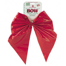 "2-Loop Red Velvet Christmas Bows - 11"" x 15.5"" - 12 Pack 901350"