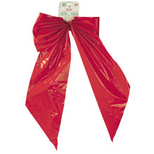 "2-Loop Red Velvet Christmas Bows - 18"" x 31"" - 12 Pack 901628"