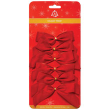 "2-Loop Red Velvet Christmas Bows - 3.5"" x 3.5"" - 72 Pack 904244"