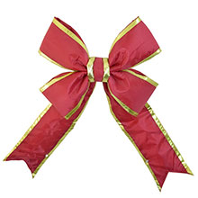 "18"" Red/Gold Nylon Christmas Bow/Ribbon"
