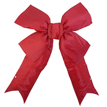 "18"" Red Nylon Christmas Bow/Ribbon"