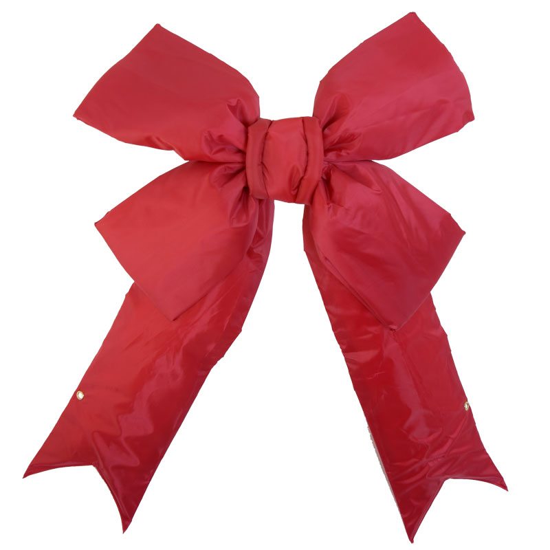 Red Christmas.Designer 18 Red Christmas Bow Puffy Nylon