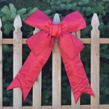 "24"" Red Nylon Christmas Bow/Ribbon"