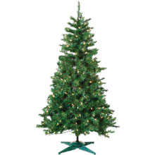 3' Pre-Lit Artificial Colorado Spruce Tree