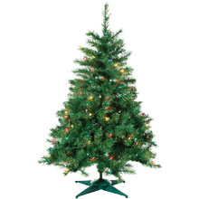 2' Multi-Color Pre-Lit Artificial Colorado Spruce Tree