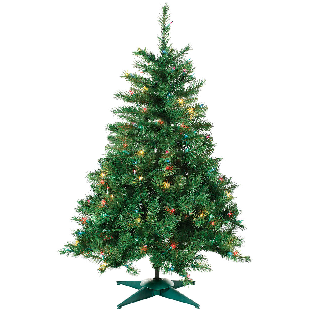 Multi-Color Prelit Colorado Spruce Tree