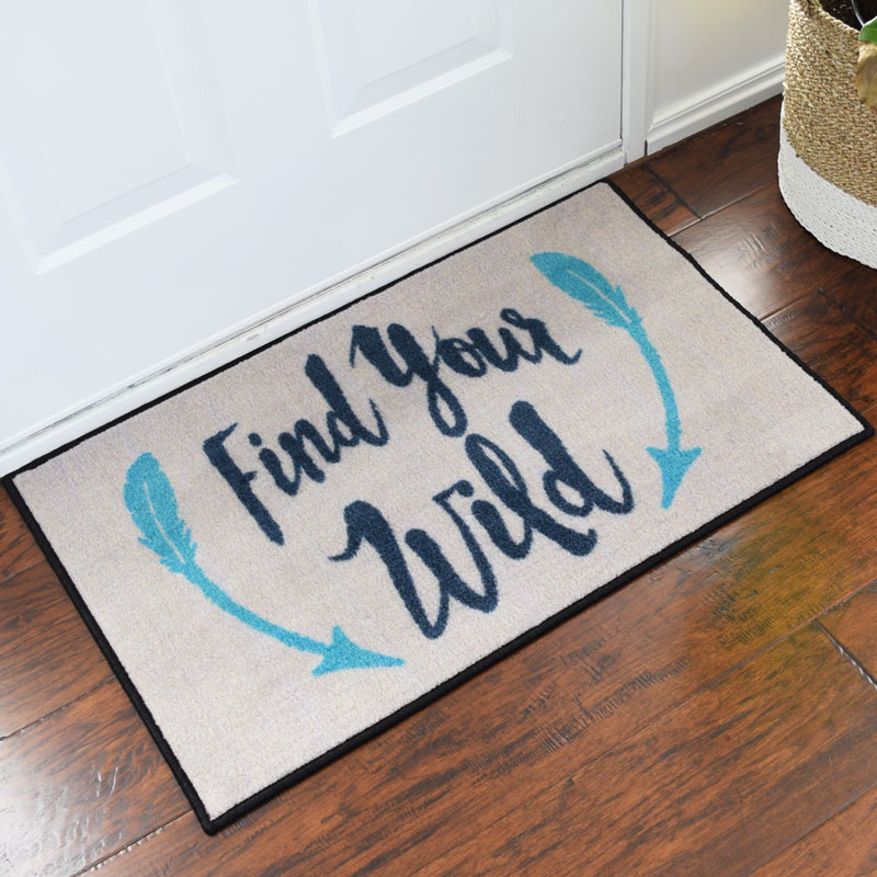 2' x 3 ' Find Your Wild Welcome Door Mat