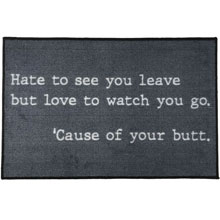 "The Office ""Hate to See You Leave"" Welcome Door Mat - 2' x 3' GM-19037527"