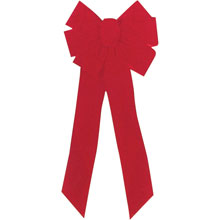 "7-Loop Red Velvet Christmas Bow - 10"" x 22"""