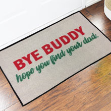 2' x 3' Bye Buddy Elf Movie Welcome Door Mat