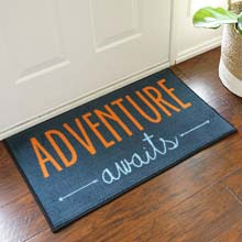 Adventure Awaits Welcome Door Mat - 2' x 3' (Navy) GM-19001059