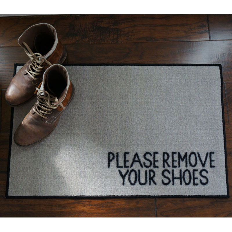Please Remove Your Shoes Message Doormat