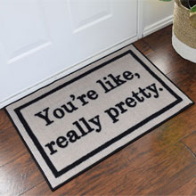 Mean Girls You're Like Really Pretty Novelty Floor Mat - Tan