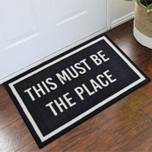 2' x 3 ' This Must Be The Place Welcome Door Mat