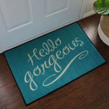 Tiffany Hello Gorgeous Welcome Door Mat