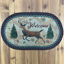 "Welcome DEER Braided Rug - 26"" x17""                          EG2521"