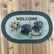 "Welcome LABS Braided Rug 26"" x17""                            EG2522"