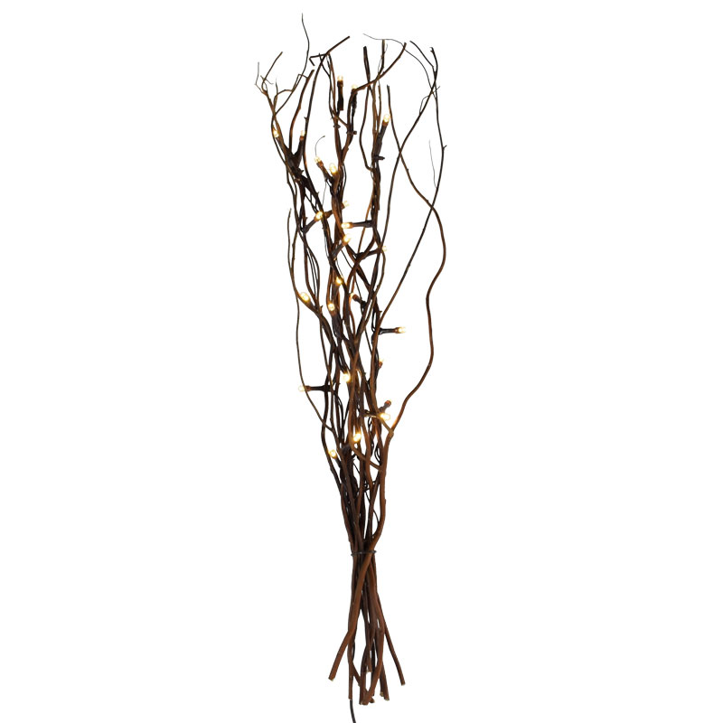 20 Natural Willow Lighted Branches