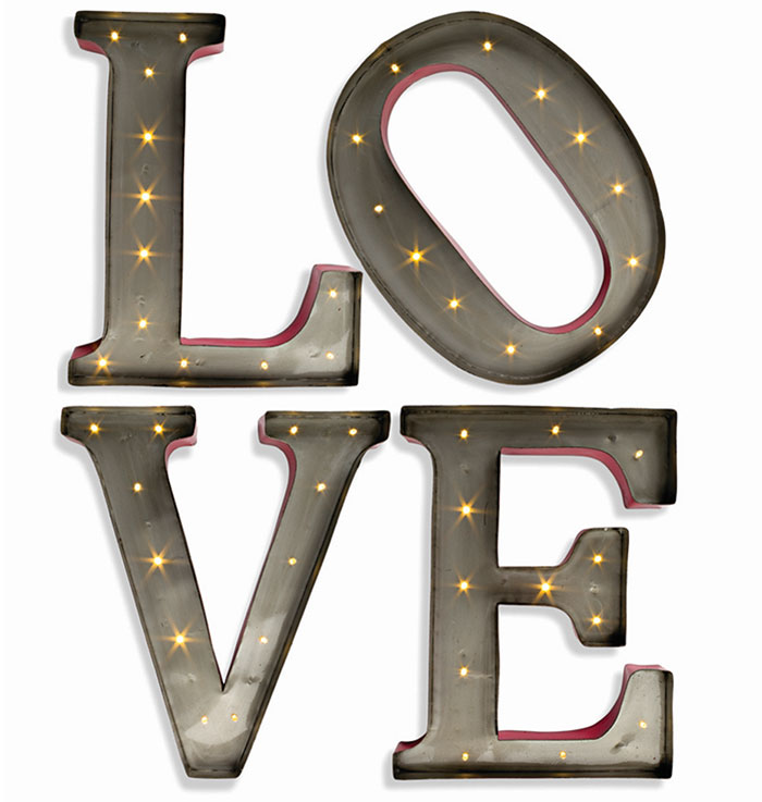 Lighted LOVE Letters Marquee Wall Sign
