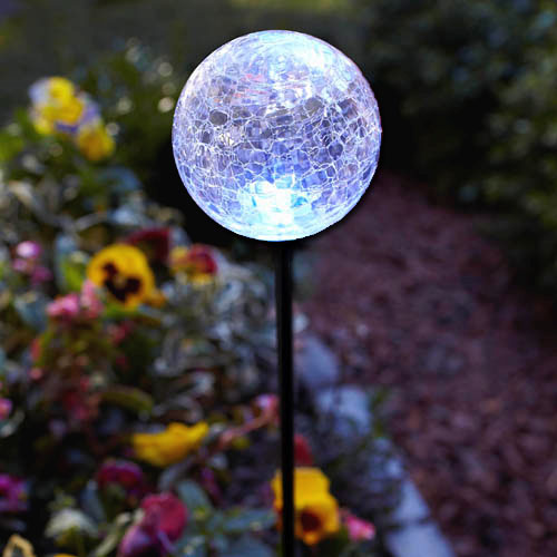 Solar Powered Stake Light Multi Color