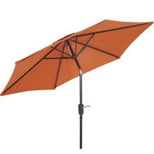 7.5' Orange Tilt Patio Umbrella