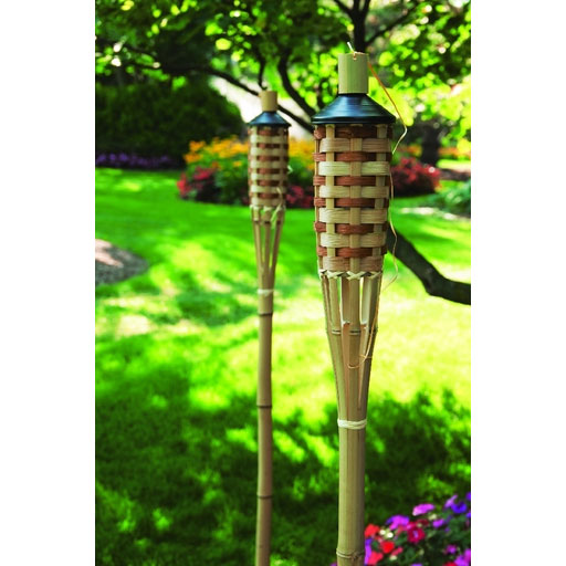 5 Bamboo Patio Torch W Fiberglass Wick