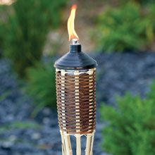 5' Brown Woven Bamboo Patio Torch