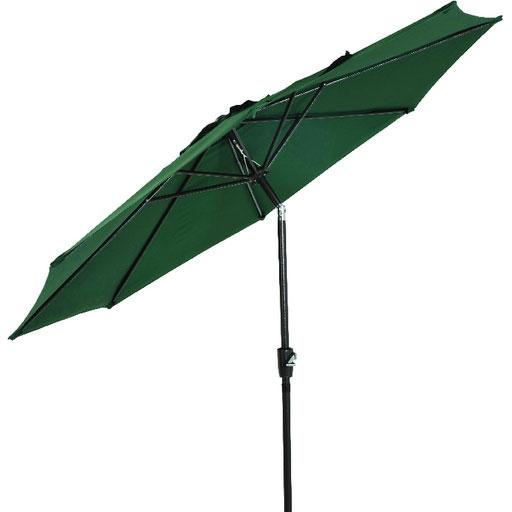 9 Aluminum Tilt Amp Crank Umbrella Green Canopy