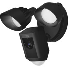 Ring Black Outdoor Security Camera w/ Floodlight