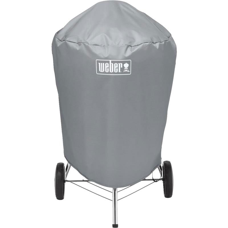 Vinyl Gray Kettle Grill Cover - 22