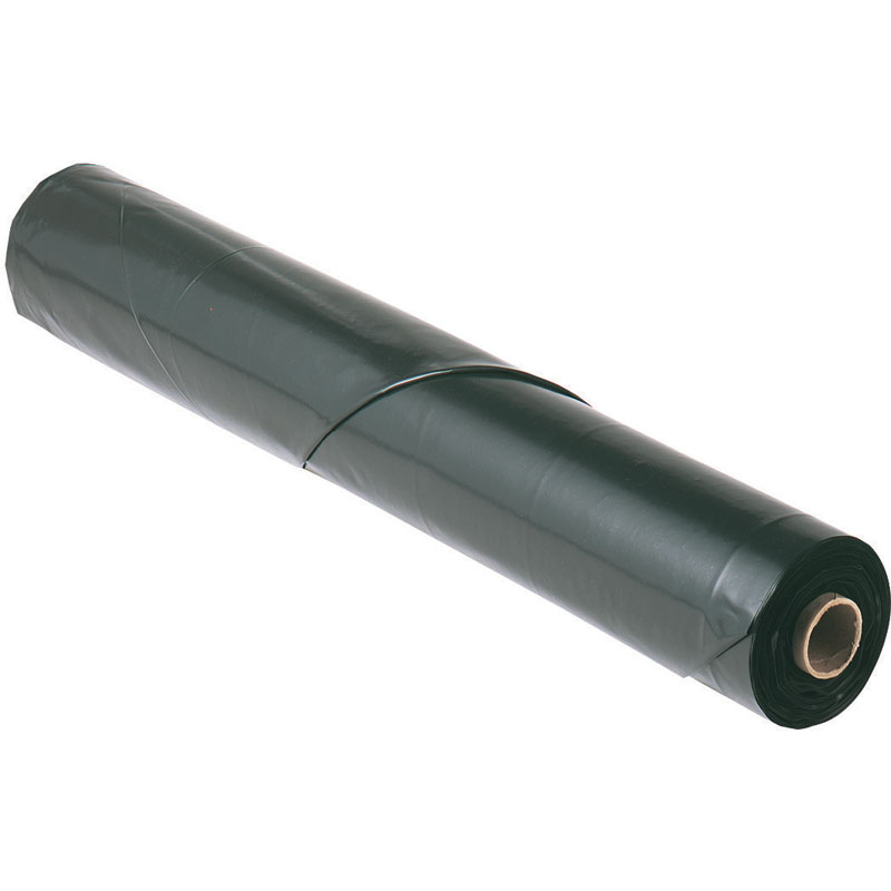 Black Polyethylene Plastic Sheeting Tarp - 16' x 100' - 6 Mil.