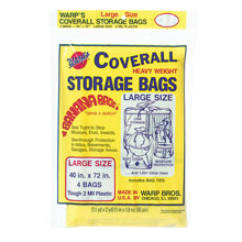 "Coverall Heavyweight Plastic Storage Bags - 40"" x 72"" - 2 mil. 618209"