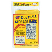 "Coverall Heavyweight Plastic Storage Bags - 45"" x 96"" - 2 mil. 618217"