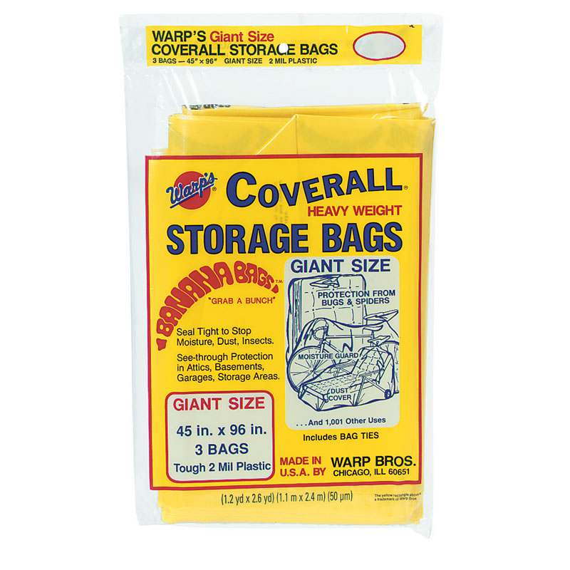 Coverall Heavyweight Plastic Storage Bags - 45