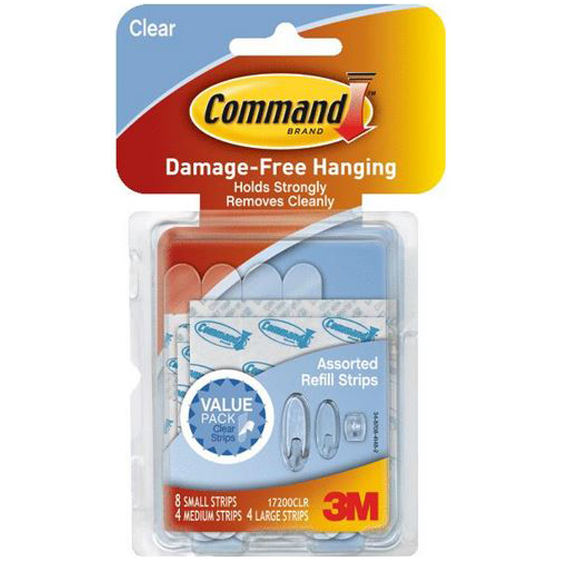 Command Clear Adhesive Strip 241143