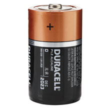 4 Pack D Duracell Batteries