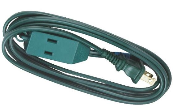 6 christmas tree light extension power cord 162 3 outlet