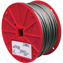 "Uncoated Galvanized Steel Cable - 500' Long - 1/8"" Dia."