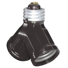 1-to-2 Light Socket Adapter - Brown 515561